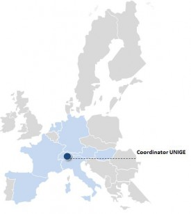 Fig. 1: European country distribution of the consortium parnter